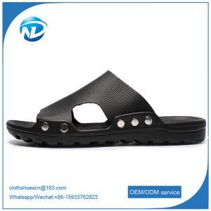 Cheap Soft Leather Upper PVC Outsole Sandals For Men wholesale
