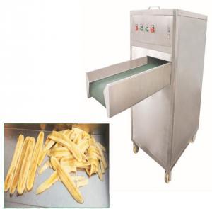 Cheap 380v 50hz Electric Plantain Chips Slicer Large Output 500kg/H Capacity 1040 * 750 * 980mm wholesale