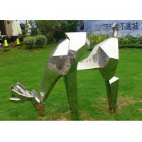 Cheap Life Size Animal Deer Stainless Steel Sculpture For Garden Decoration wholesale