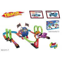 Cheap Multiple Rolling Children's Car Race Track Sets With Two Way Driving Pull Back wholesale