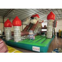 Cheap Indoor Playground Inflatable Fun City , Commercial Children Castle Bounce House wholesale