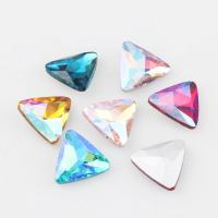 China 18mm AB Color Triangle Pointed Back Fancy Stone Glue On Crystal Glass Wedding Dress Leotard Jewelry Cup Stones Beads on sale