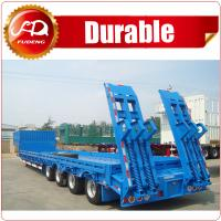 Cheap China Hot sale Heavy Load 4 axles 80 Tons Lowbed Semi Trailer for sale wholesale