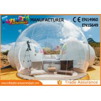Cheap Outdoor Camping Bubble Inflatable Party Tent / Clear Dome Igloo Tent wholesale