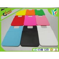 Cheap Silkscreen Printing Silicone Credit Card Holder Recycled 3M Glue wholesale