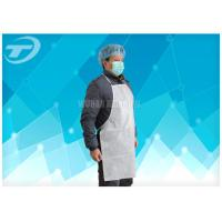 China Adults PVC disposable polyethylene aprons With Tie / Polyvinyl Chloride Fabric on sale