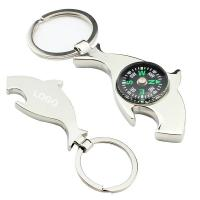 Cheap bottle opener keychain with compass wholesale