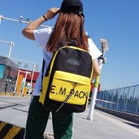 Cheap New nylon monogram printed backpack fashion trend European and American style outdoor backpack wholesale