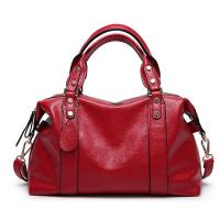 Cheap Red Ladies Real Leather Handbags 38*29*13 Cm Adjustable Shoulder Strap wholesale