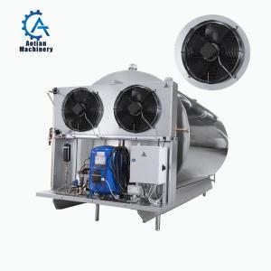 Cheap Horizontal agitator stainless steel Refrigerated milk storage tank wholesale