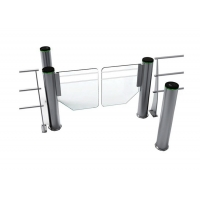 Cheap Cylindrical Self Closing 200W SS304 Fast Lane Swing Barrier wholesale