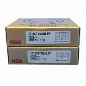 Cheap NSK 7010CTYNSULP4 Single Row angular contact ball bearing 50X80X16MM Machine tool bearing wholesale