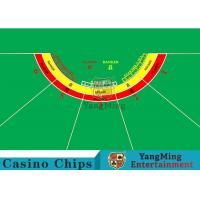 Cheap Waterproof Half Round Casino Table Layout With Specialized Patterns / Colors wholesale