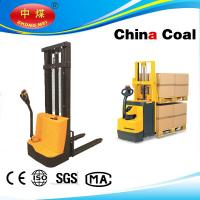 Cheap Semi-electric pallet truck stacker 1500kg capacity with straddle legs wholesale