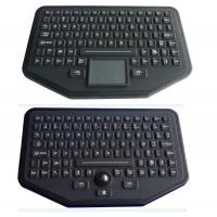 Cheap Stand Alone Industrial Illuminated Keyboard With Trackball Black Color wholesale
