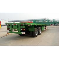 Buy cheap 2 axle 40tons flat deck container semi trailer with twist lock for cargo from wholesalers