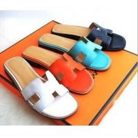 Cheap Cheap Hermes 2014 Genuine leather colorful women fashion slippers ,Replica women shoes wholesale