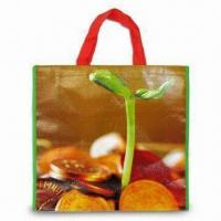 Cheap Nonwoven PP Shopping Bag with OPP Coating, Measuring 38 x 42 x 10cm wholesale