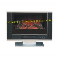 Cheap Indoor 600 X 140 X 510 mm Free Standing Electric Fireplace Black Color wholesale