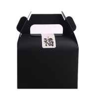 Cheap Custom Food Cupcake Folding Paper Box With Handle Cake Gift Food Packaging wholesale