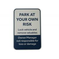 Cheap UV Printed Aluminum Metal Signs Parking Control Weather Resistant Customized Size wholesale