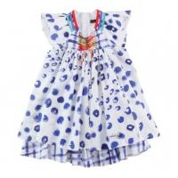 Cheap Summer custom Woven Cute Cotton baby knitted dress patterns, Casual Skirt With Cap sleeve wholesale
