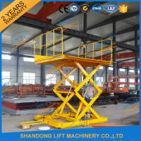 Cheap 600KGS 2M Warehouse Hydraulic Cargo Scissor Lift with Movable Wheels wholesale