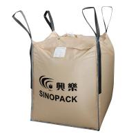 Beige Four-panel Big PP Container Bag FIBC with side seam loops