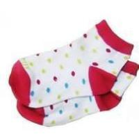Cheap 100% Cotton Polka Dot No Seam Anti Slip Baby Socks, Short Tube Baby Girls Dotted Sock wholesale