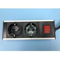 Buy cheap Black Color 2 Outlet European Power Strip Aluminum Shell Germany Power Bar from wholesalers