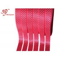 Red Polyester personalized awareness ribbons With Little Polka Dots