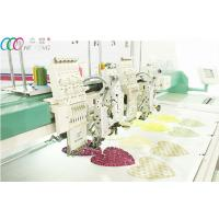 Cheap 2 Heads Mixed Coiling / Taping And Flat Embroidery Machine , 6 Needles wholesale