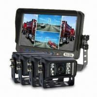 China Long Distance Coach Safe Driving Camera System with Quad Viewing Monitor Show on sale