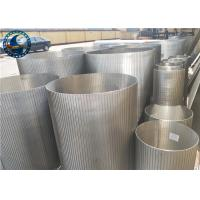 China Stainless Steel Reverse Wedge Wire Screen For Waste Water Treatment Plant on sale