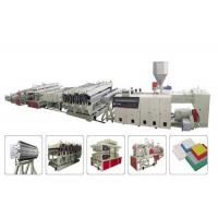 China Performance WPC Production Line / Wood Plastic Composite Machinery For Furniture and Door on sale