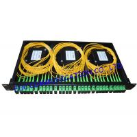 Cheap Rack Mount Fiber PLC Splitter Patch Panel SC / APC With 6pcs of 1 * 4 Splitter wholesale