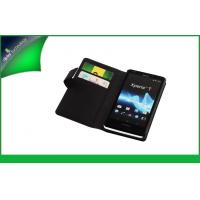 China Anti - scratch Sony Mobile Phone Wallet Leather Case for Xperia T Lt30p With Debossed Logo on sale