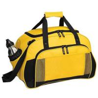Cheap Yellow Canvas Leather Travel Luggage BagsWith Two Seperate Pocket wholesale