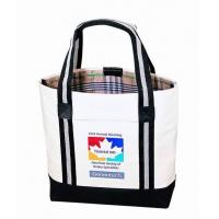 Cheap Custom Canvas Bags With Long Strap Inside Small Zipper Pockets wholesale
