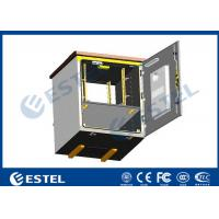 Cheap Outdoor Pole Mounted Telecom Cabinet / Small Enclosure For Pole Mount With 19 Inch Rack Battery Shelf wholesale