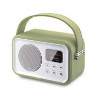 Cheap 2015 new Wooden Leather decoration bluetooth speaker boombox with usb sd wholesale