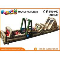 Buy cheap Fireproof Giant Inflatables Obstacle Course Tunnel For Amusement Park from wholesalers