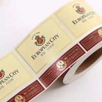 Buy cheap High Quality Custom Printed Adhesive Rolled Wine Bottle Labels For Glass Bottles from wholesalers
