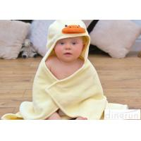 Cheap Cute Duck Bath Towel , Kids Baby Bath Towel With Hood Various Colors for sale