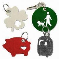 Cheap Laser-cut Felt Free Form Keychains with Metal Eyelet Punched wholesale