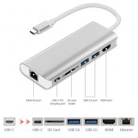 China USB C Hub USB Type C 3.1 Adapter Dock with 4K HDMI PD Charge for MacBook Ethernet Adapter on sale