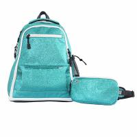 Cheap New Style Green Color Fashion Sports Backpack Glitter Sparkle Material wholesale
