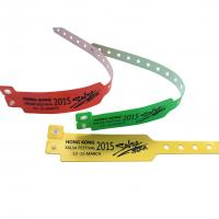 Cheap One Time Use RFID Chip Wristband For Waterpark Soft PVC Bracelet 860-960MHz wholesale