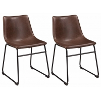 Buy cheap Mid Century Modern Style Black Metal Leather Dining Room Chairs from wholesalers