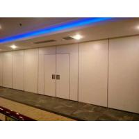 Cheap Melamine / Fabric Surface Acoustic Commercial Folding Partition Walls For Office wholesale